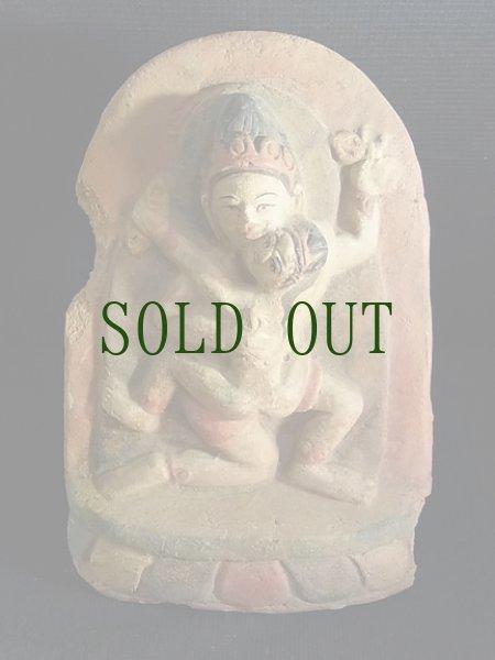 画像1: ツァツァ(チベットの磚仏) 金剛薩捶の歓喜仏(ヴァジュラサットヴァのヤブユム) (1)