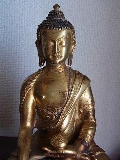 画像2: 釈迦如来(釈迦牟尼仏陀・ブッダ) 鍍金仏