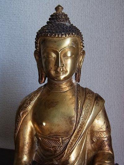 画像3: 釈迦如来(釈迦牟尼仏陀・ブッダ) 鍍金仏
