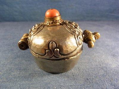 画像2: 銀製アンティーク・ガウ チベット密教御守り箱