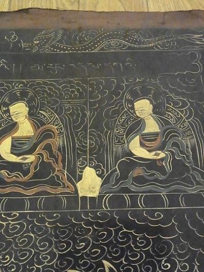 画像3: チベットの毘沙門天(ナムトゥーセー)のナクタン(黒タンカ)