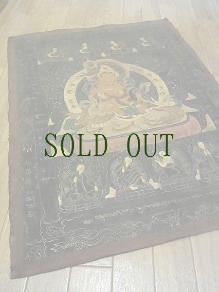 画像1: チベットの毘沙門天(ナムトゥーセー)のナクタン(黒タンカ)  (1)