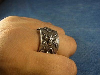 画像2: 獅子・吉祥紋の銀製リング(モンゴル)アンティーク