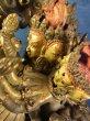 画像4: チャクラサンヴァラのヤブユム(四面二十四臂歓喜仏) 鍍金アンティーク仏像 (4)