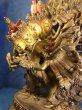 画像3: チャクラサンヴァラのヤブユム(四面二十四臂歓喜仏) 鍍金アンティーク仏像 (3)
