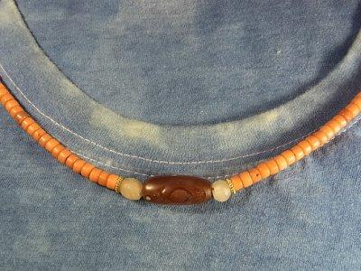 画像3: 紅玉髄とシリアの発掘水晶、珊瑚のネックレス