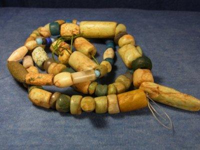 画像1: 発掘 古代アマゾナイト管玉 (トアレグ族・ニジェール) 天河石