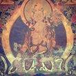 画像1: ホワイトターラのタンカ (tibetan white tara thangka) (1)