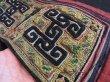 画像6: 黒ミャオ族(黑苗族・黒モン) 藍染・刺繍古布 (ジャケット襟・袖) (6)