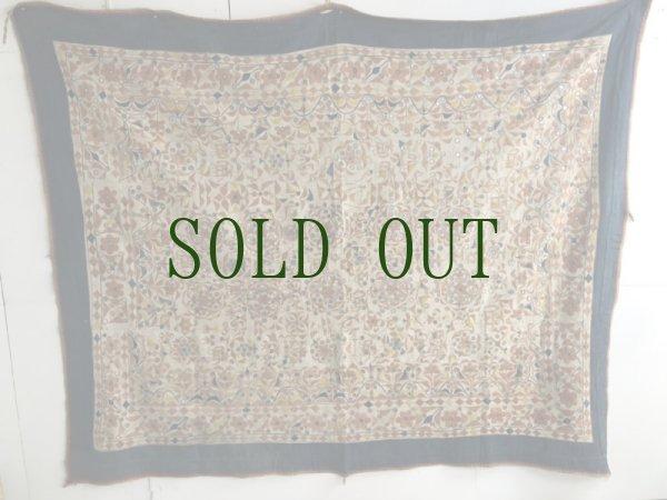 画像1: インド グジャラート州 刺繍・ミラーワーク 天蓋 (180×220cm)・アンティーク (1)
