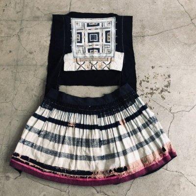 画像1: 広西省白裤子瑶族(ヤオ支族) プリーツ巻きスカート