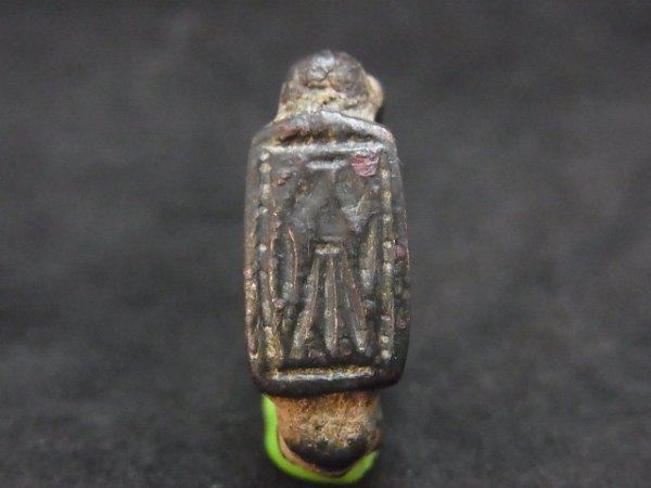 画像1: 古代 インダス文明 インタリオ ブロンズリング  (1)