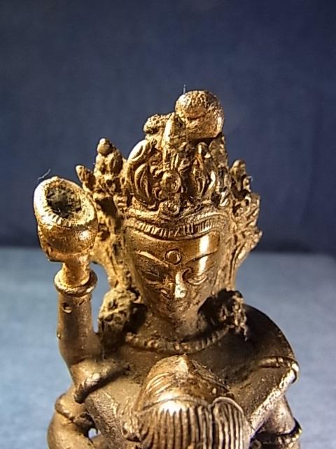 ドルジェ・チャンのヤブユム(持金剛歓喜仏) 銅製アンティーク仏像                                        [CTBT0697]